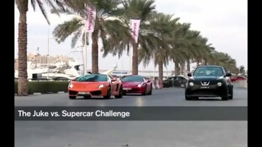 Juke-R Street Race in Dubai: Desafiando Lamborghini, Ferrari e Mercedes SLS AMG
