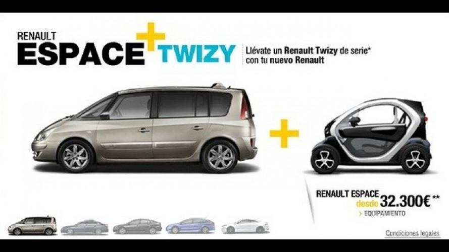 Promoção: Compre um Renault Espace e leve grátis um Twizy na Espanha