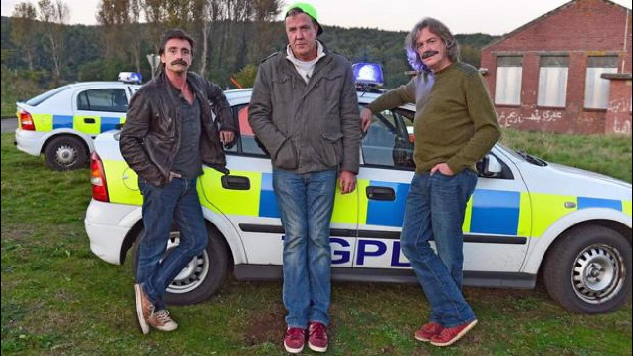 "[Copertina] - Jeremy Clarkson, James May e Richard Hammond da Top Gear ad ""House Of Cars"""