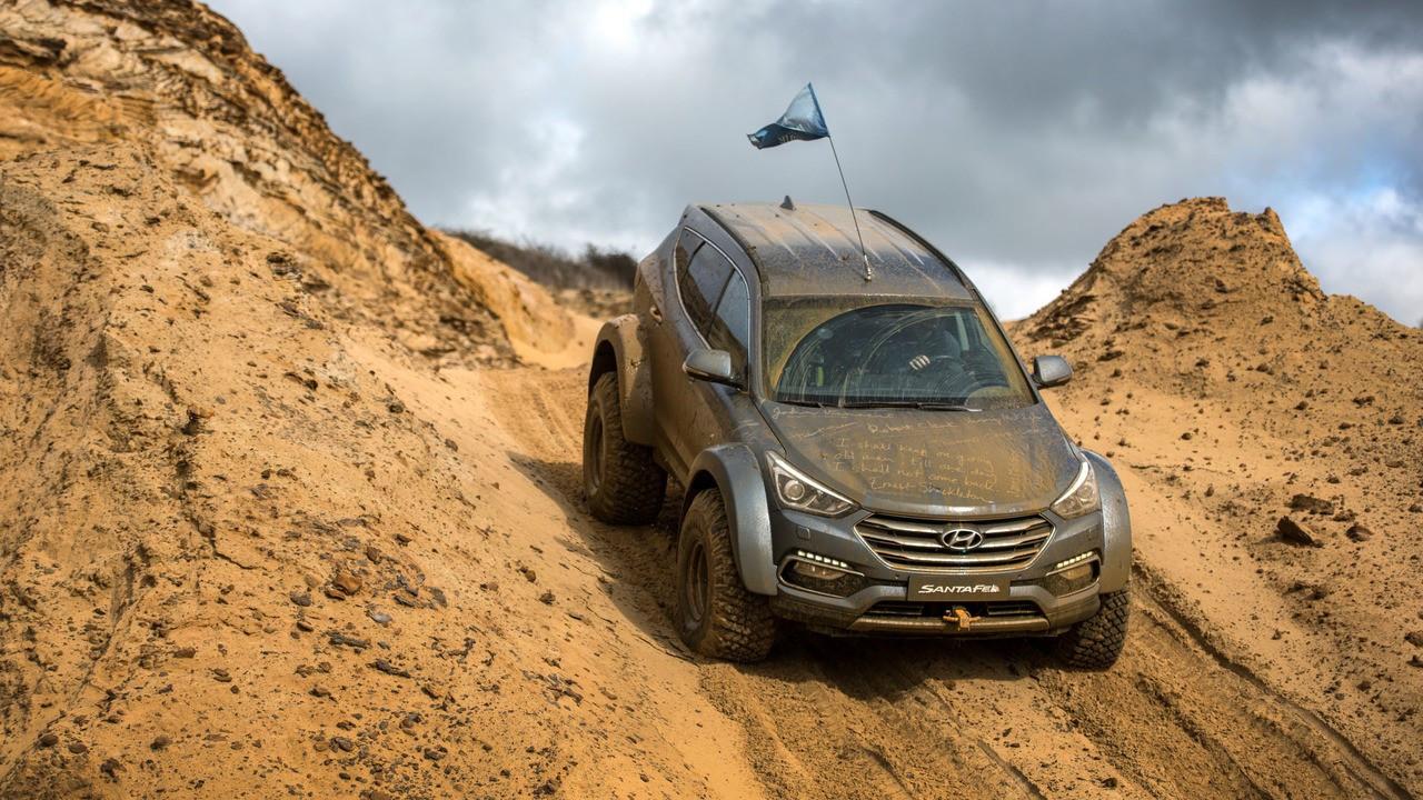 Hyundai Santa Fe, la prova della speciale per l'Antartide