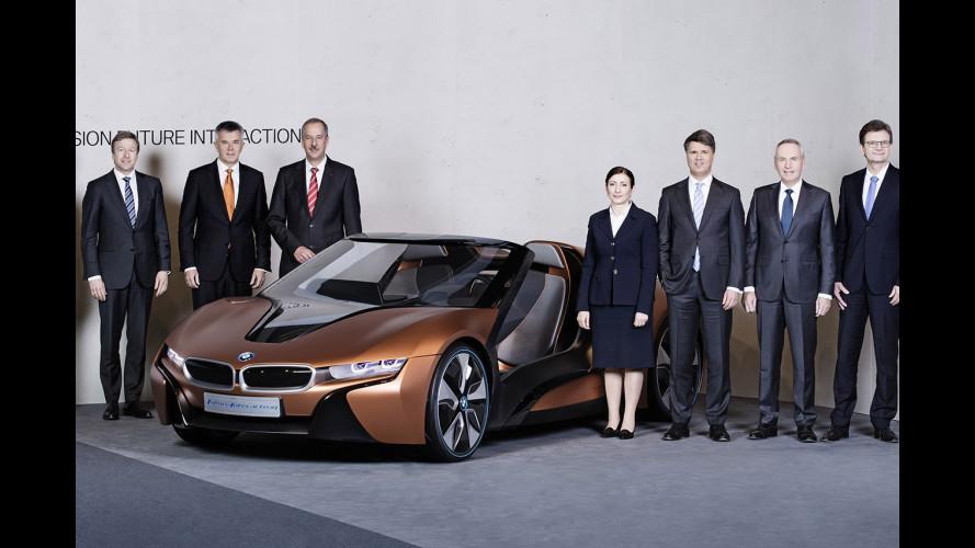 BMW: in arrivo X7, MINI ibrida plug-in e i8 roadster