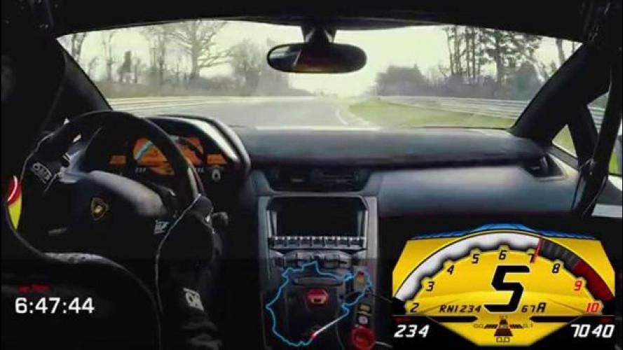 Lamborghini Aventador SV, sotto i 7 minuti al Nurburgring