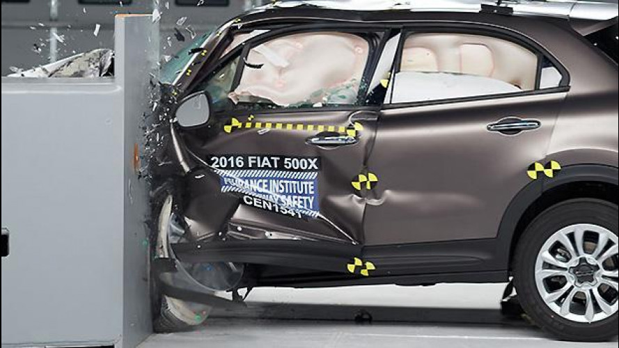 Fiat 500X, bottino pieno nel crash test USA