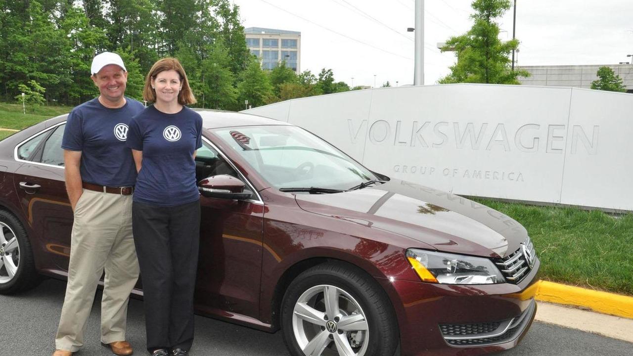 John and Helen Taylor with Volkswagen Passat TDI 08.5.2012