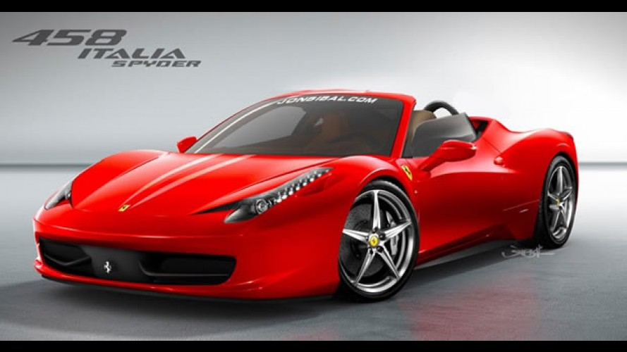 Ferrari 458 Italia Spyder - Projeção mostra possível versão conversível do novo esportivo