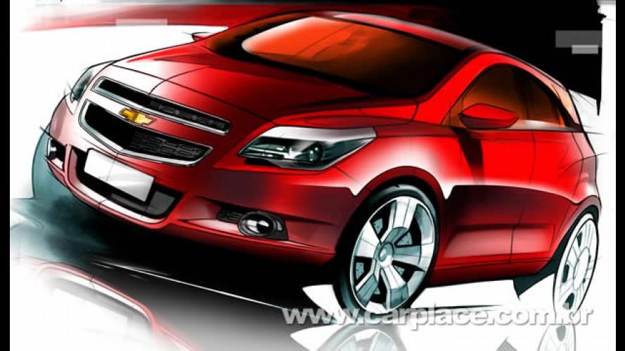 Chevrolet divulga esboços do novo hatch Agile