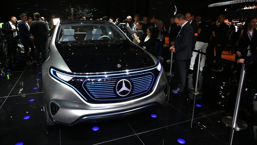 Mercedes Generation EQ concept live at 2016 Paris Motor Show