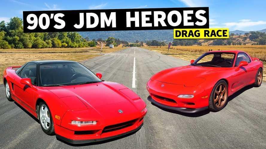 Honda NSX vs Mazda RX-7 drag race is the ultimate '90s showdown
