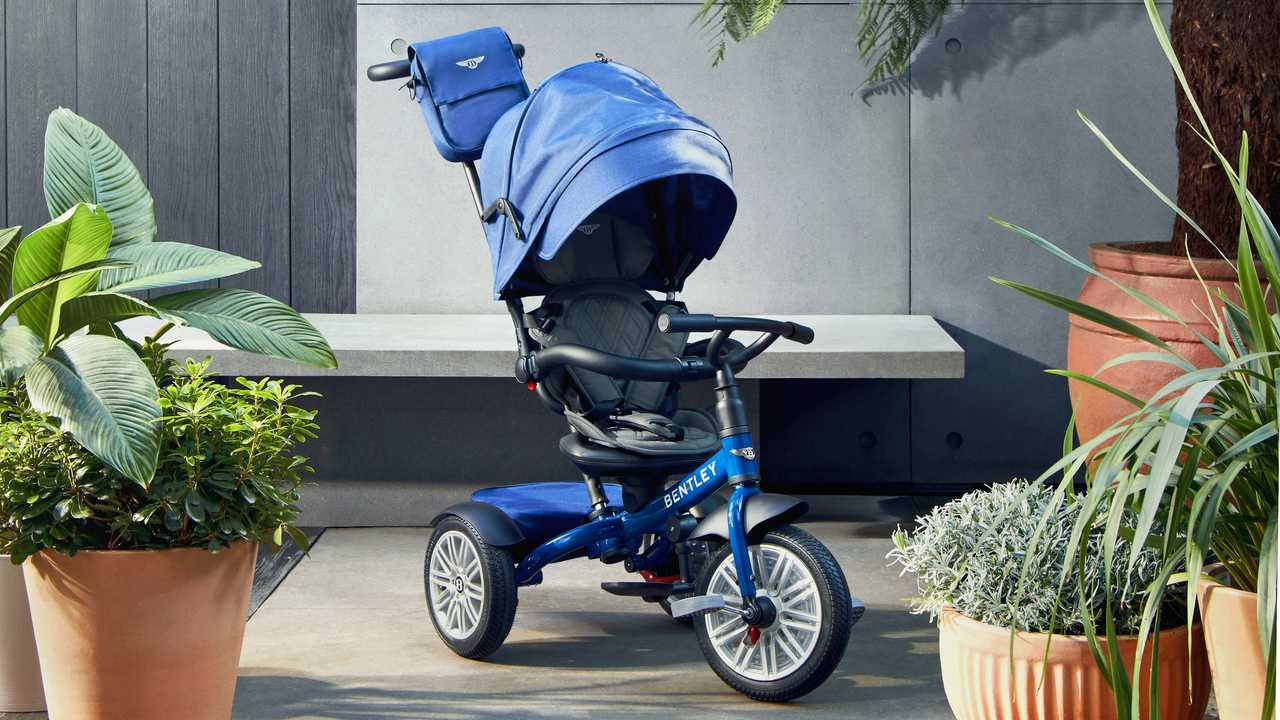Bentley launches three-wheeled baby stroller