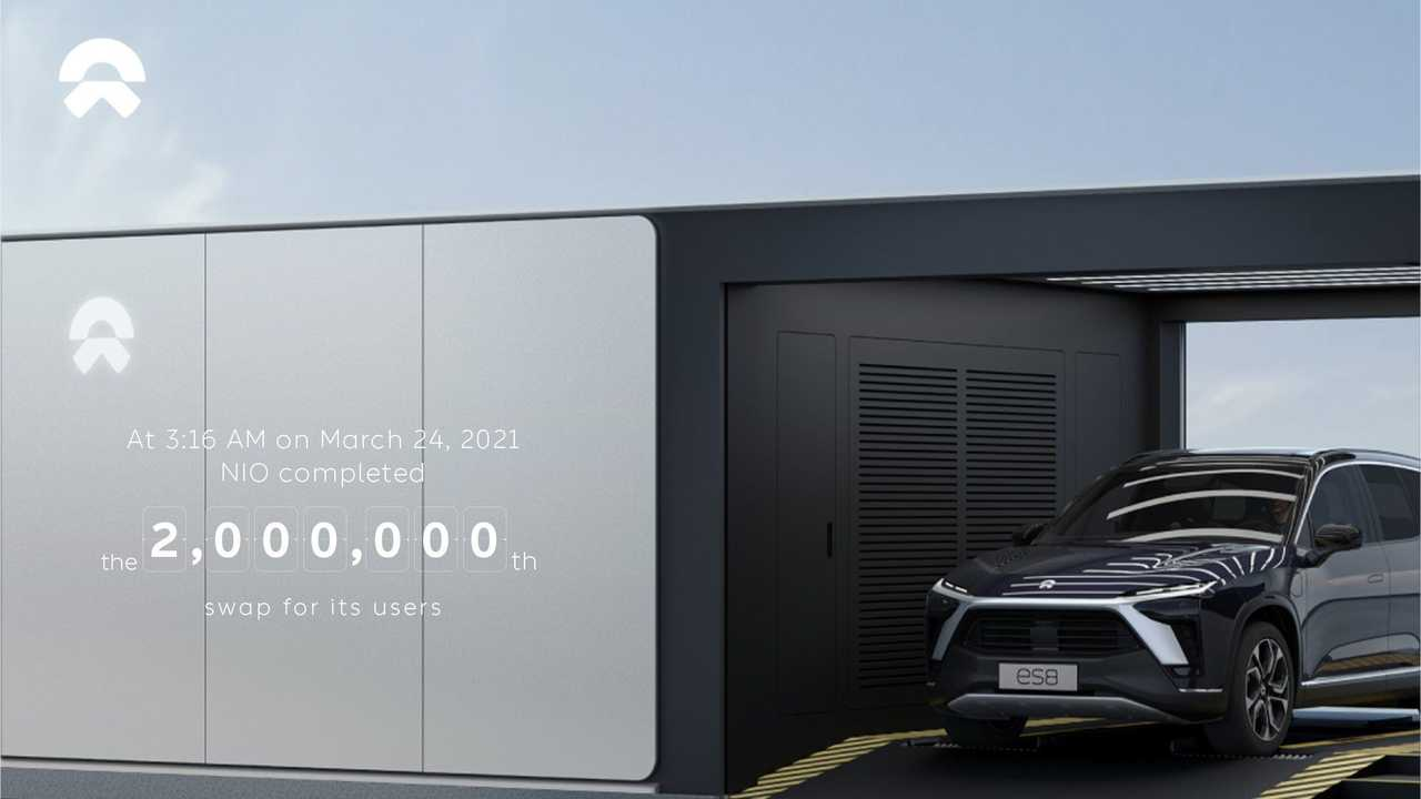 NIO Battery Swap Stations - 2 million battery swaps