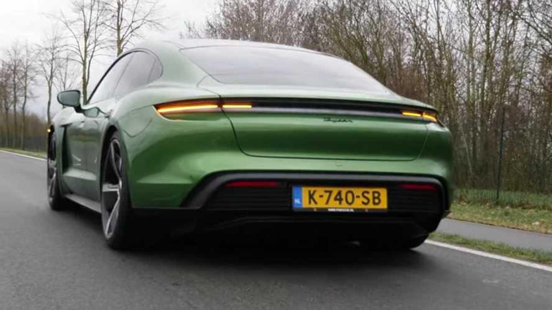 Rear-Drive Porsche Taycan Acceleration Test Shows What EV Can Do