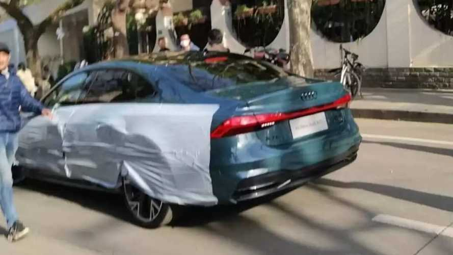 No More Sporty Back: Audi A7 Spied Without Camo As Stretched Sedan