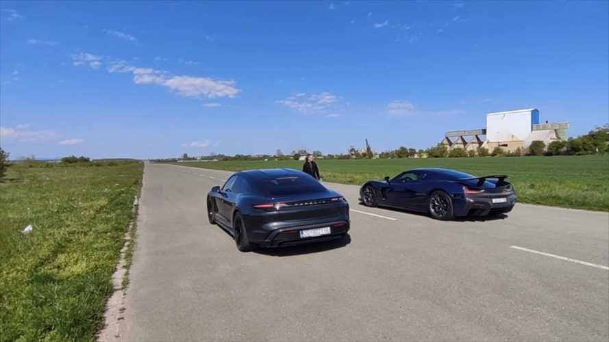 Vidéo - La Rimac C_Two défie la Porsche Taycan Turbo S