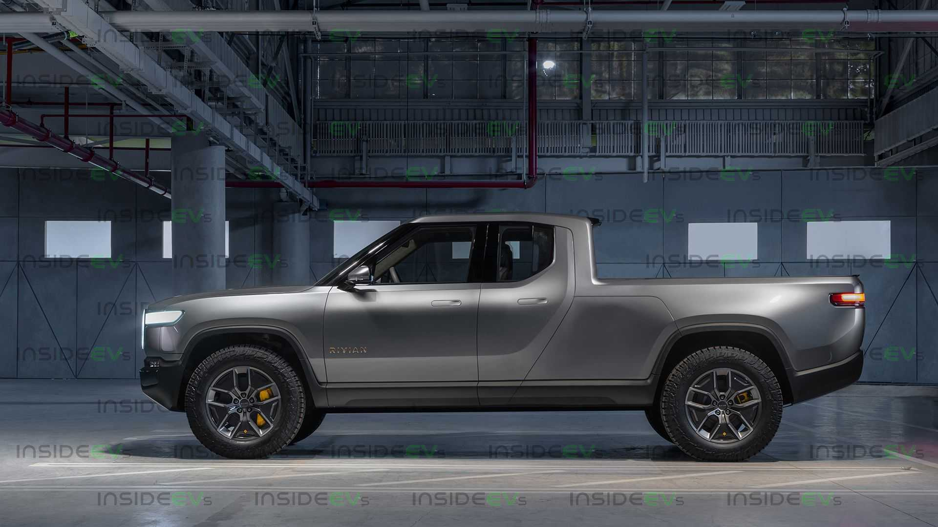 This Rivian R1T Extended Cab Long Bed Truck Rendering Looks Sleek