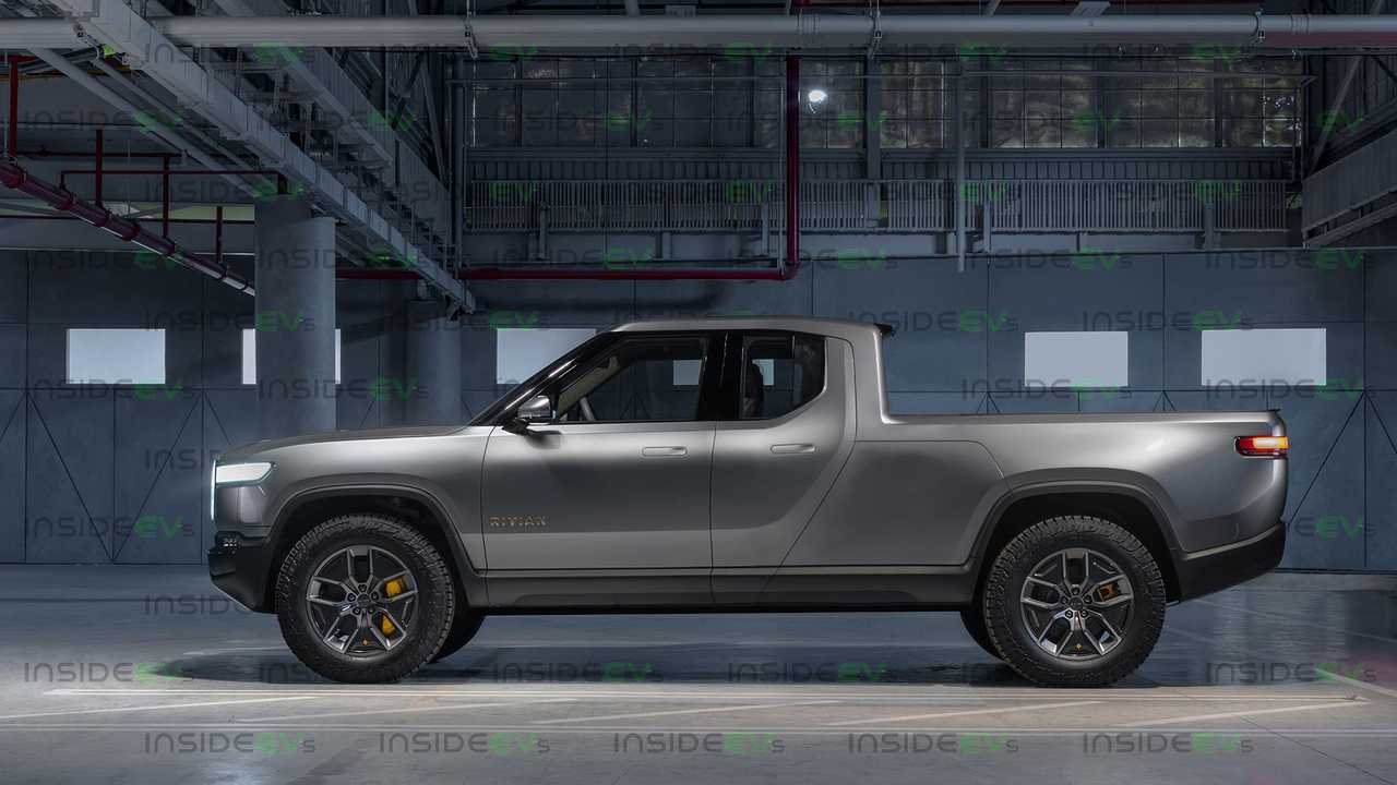 This Rivian R1T Extended Cab Truck Rendering Looks Sleek