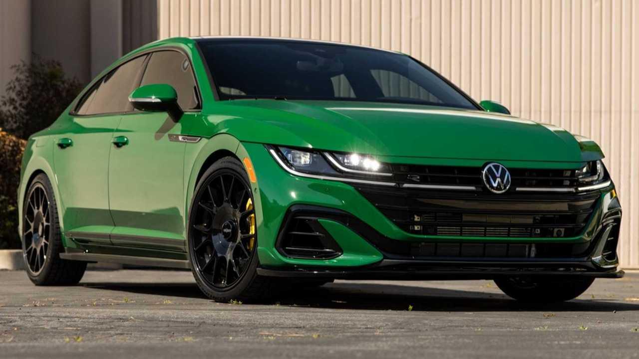 green vw arteon big sur concept