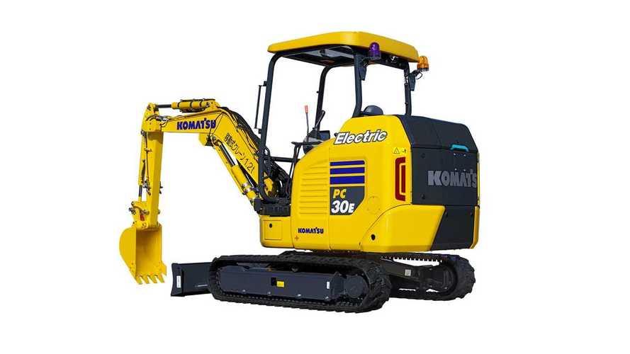 Komatsu Introduces PC30E-5 Electric Mini Excavator In Japan
