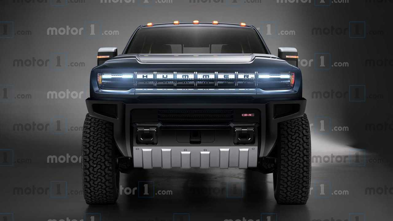 GMC Hummer EV, render del pick-up eléctrico