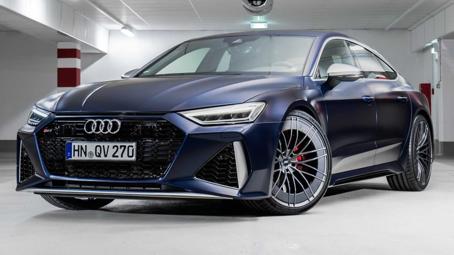 2020 Audi Rs7 By Abt Looks The Part With Aero Wheels Matte Paint
