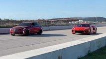 Chevrolet Corvette C8 Drag Races Cadillac CTS-V