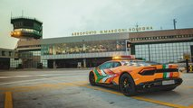 Lamborghini Huracán RWD als Follow-Me Car am Flughafen Bologna