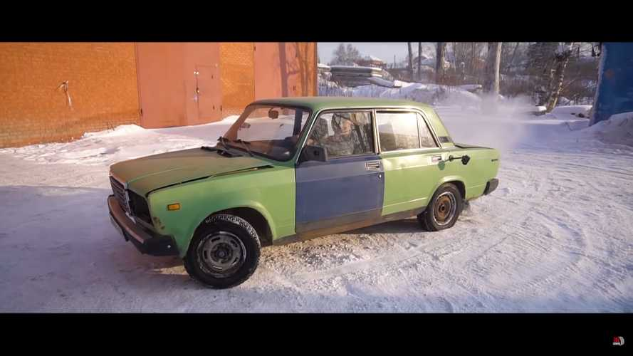 Lada Gets Centerlock Wheels In Hilarious Russian Tuning Job