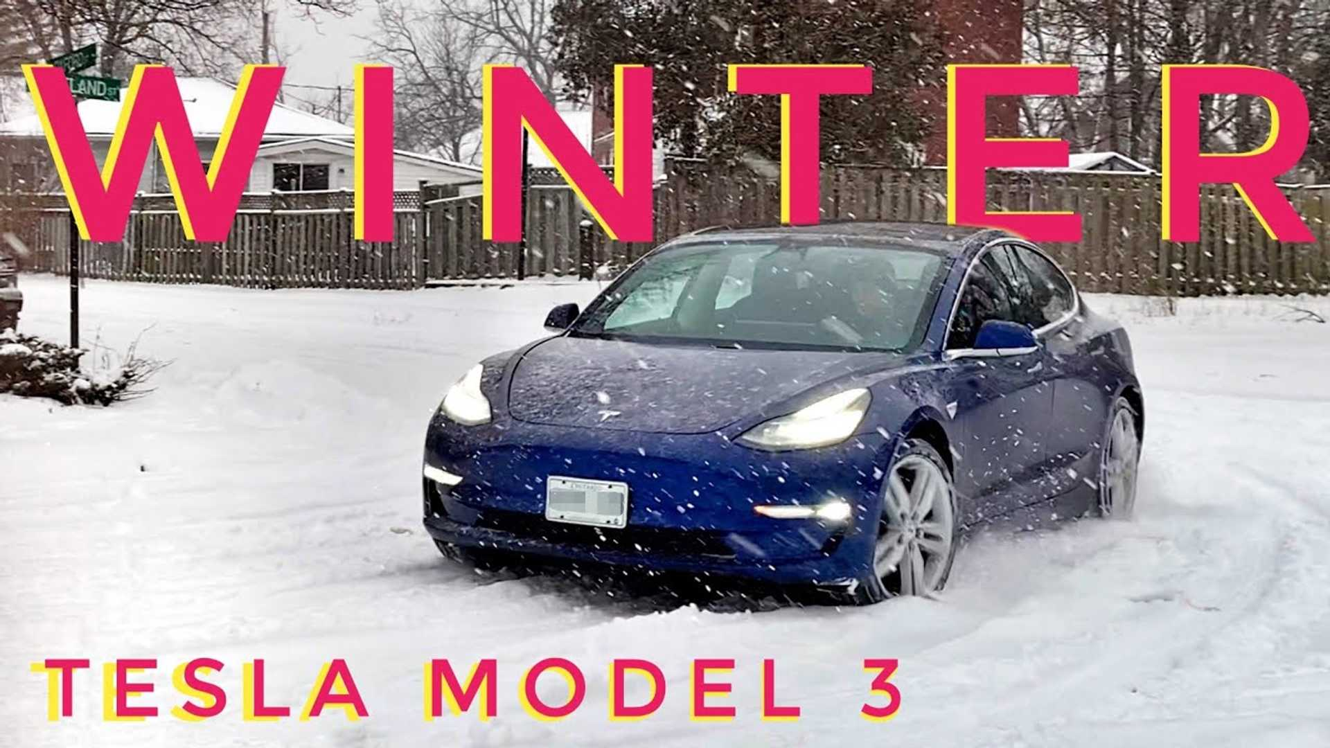 Tesla Model 3 Winter Driving Test, Review And Tips