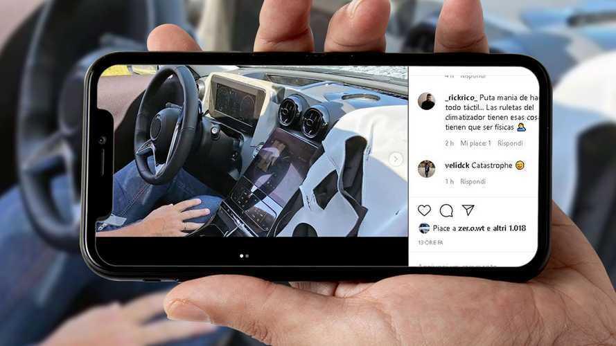 Mercedes Classe C, su Instagram gli interni della nuova generazione