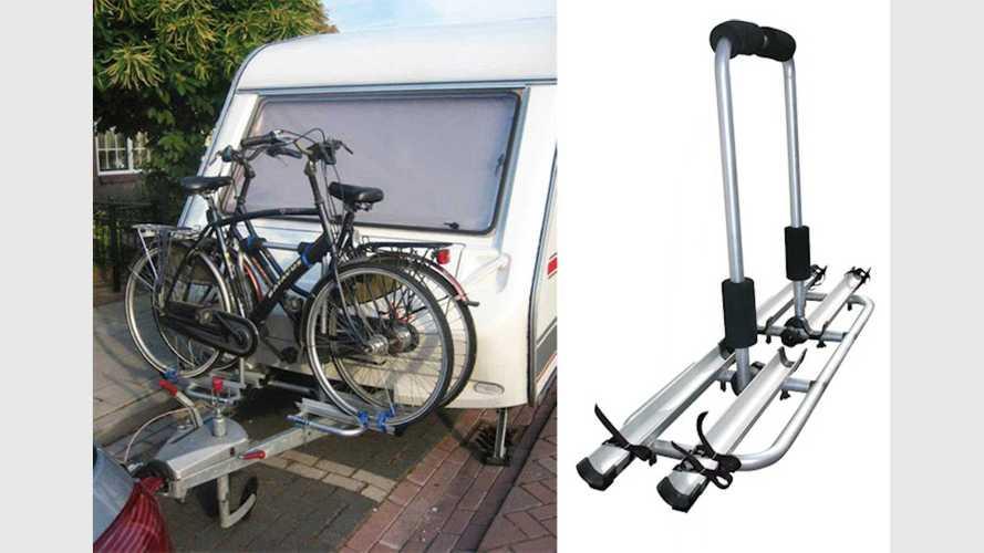 Fahrradträger für die Wohnwagen-Deichsel von Rameder