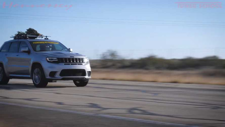 See a Hennessey-tuned Jeep hit 181 mph with Christmas tree on roof