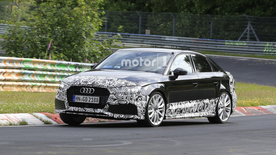 Audi RS3 Saloon flexes its muscles on camera