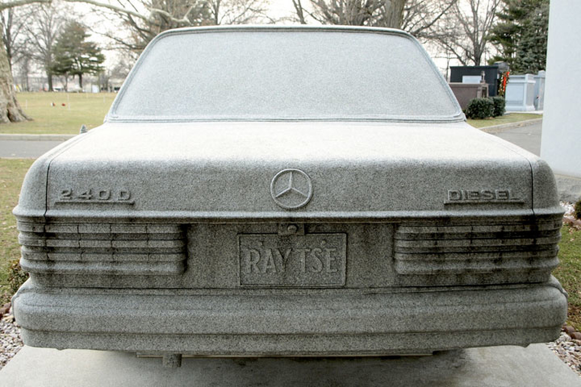Rust in Piece? Yup, That's a Mercedes-Benz Gravestone
