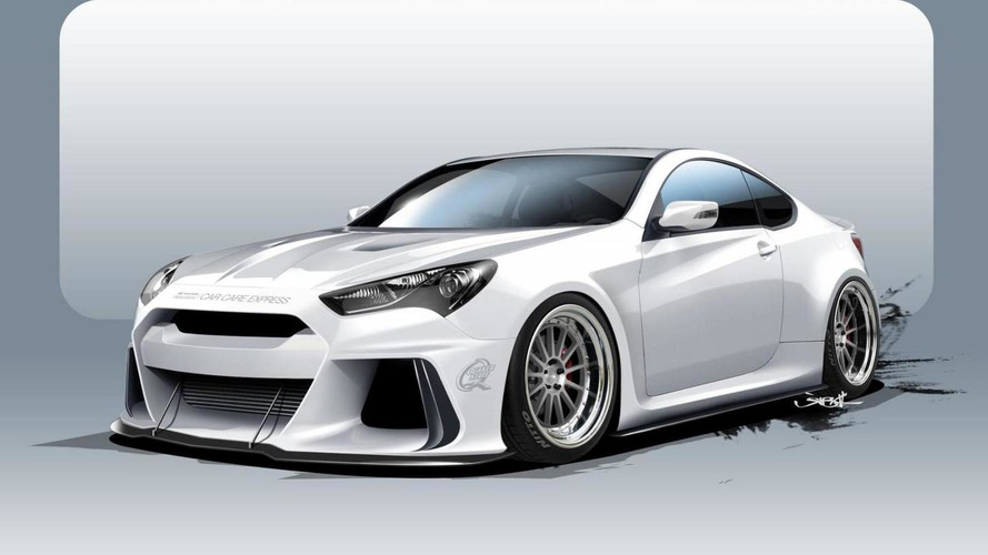 Hyundai Solus Genesis Coupe teased for SEMA, billed as a BMW M4 competitor