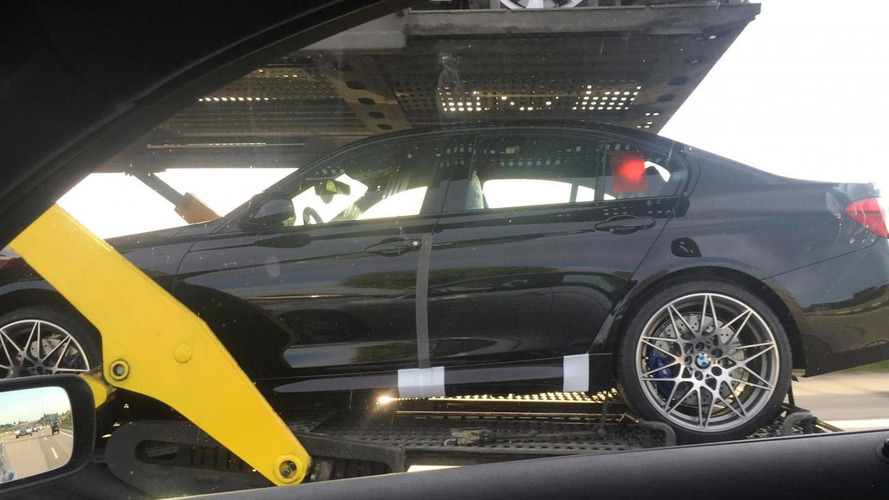 BMW M3 Competition Package spied undisguised