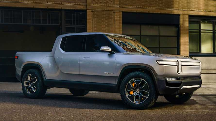 Rivian R1T Electric Truck Makes Surprise Appearance At Amazon Event