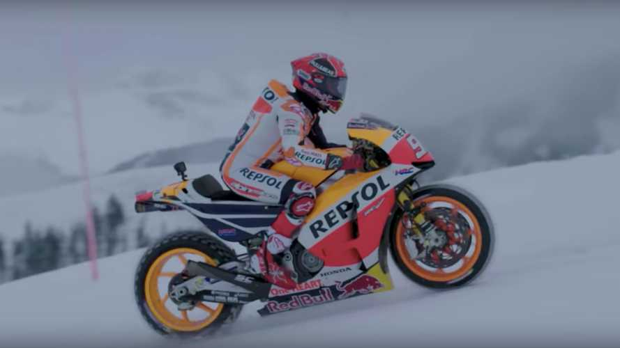 Watch Marc Marquez Tackle The Ski Slopes With His MotoGP