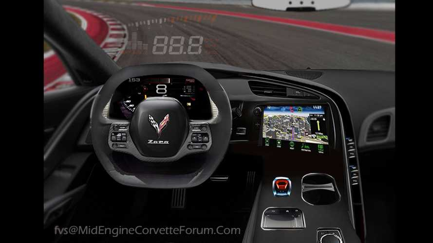 Mid-Engined Corvette Interior Imagined In Fan Rendering
