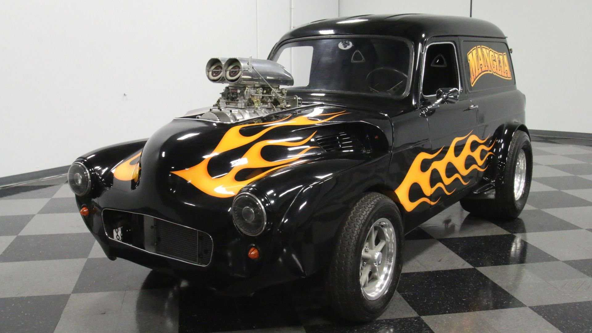 """[""""Flaming Hot 1951 Ford Anglia Is Armed And Beautiful""""]"""