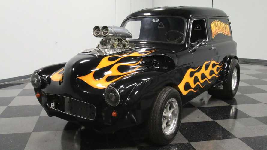 Flaming Hot 1951 Ford Anglia Is Armed And Beautiful