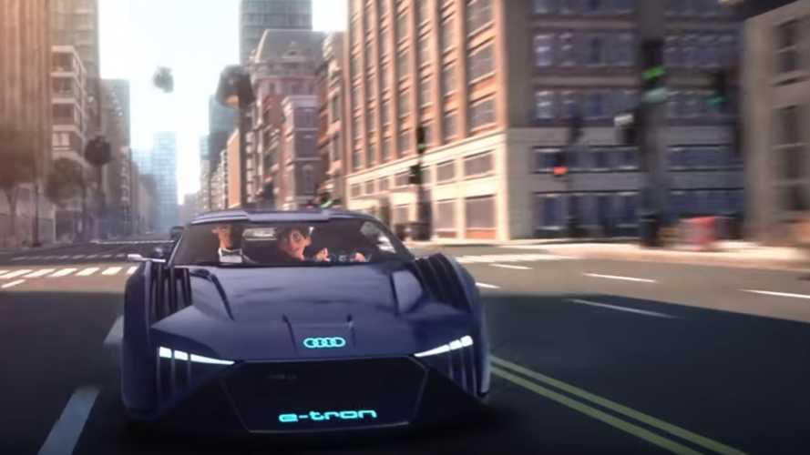 Электрокар Audi впервые снялся в мультике (трейлер)