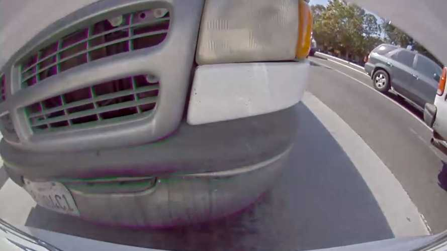Watch Tesla Get Rear-Ended By Full-Size Van