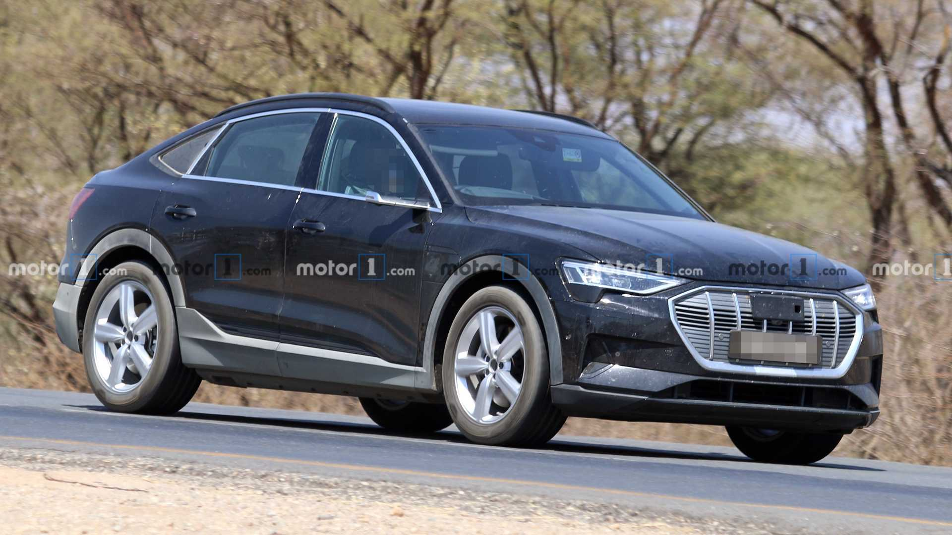 Audi E-Tron Sportback RHD caught with almost no camo