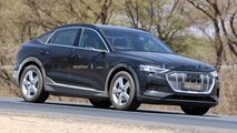 Audi e-tron Sportback (2020) fast ungetarnt erwischt