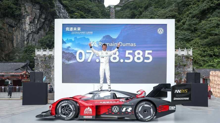 Volkswagen ID R sets first official record on Tianmen Mountain