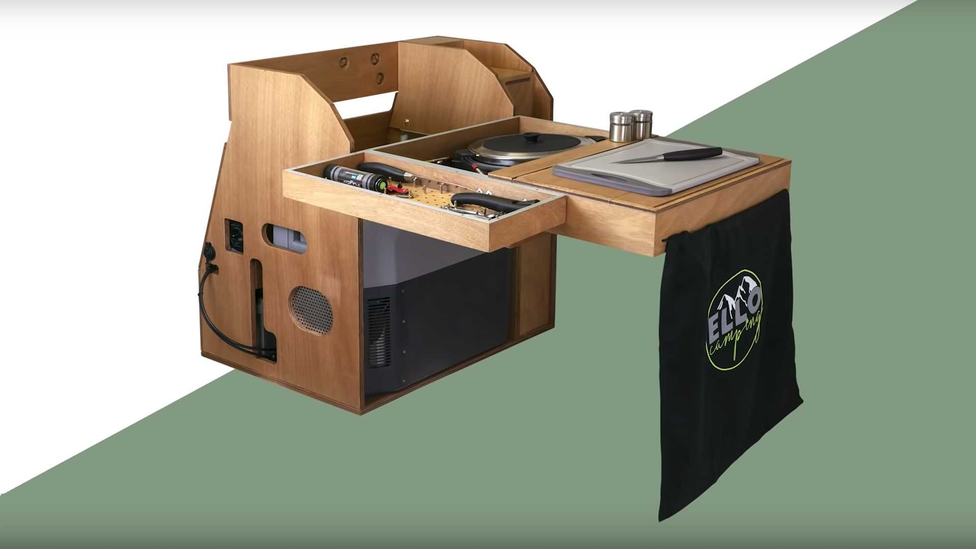 Ellobox Adds Kitchen With Fridge To Any Compact Car