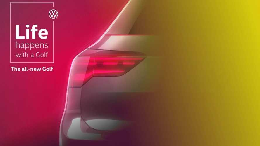 2020 VW Golf Final Teaser Previews Taillight Design