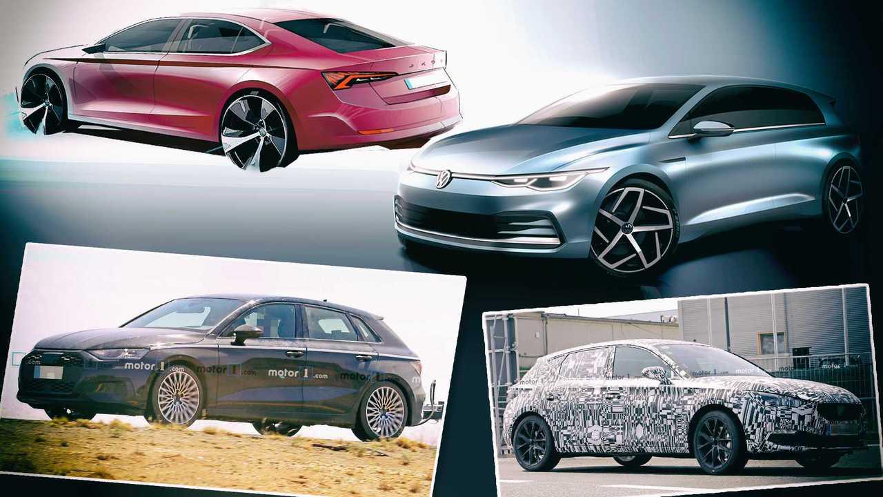 VW Golf 8, Skoda Octavia (2020), Seat Leon (2020), Audi A3 (2020)