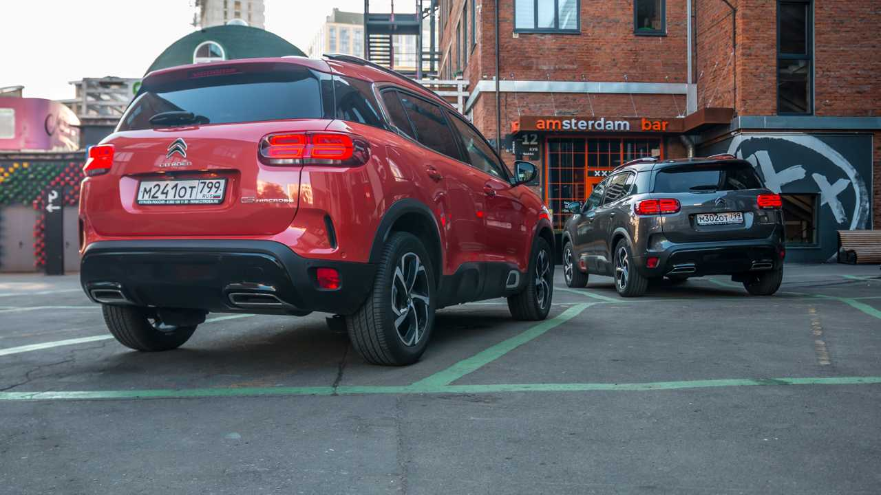Citroen C5 Aircross test-drive in Moscow