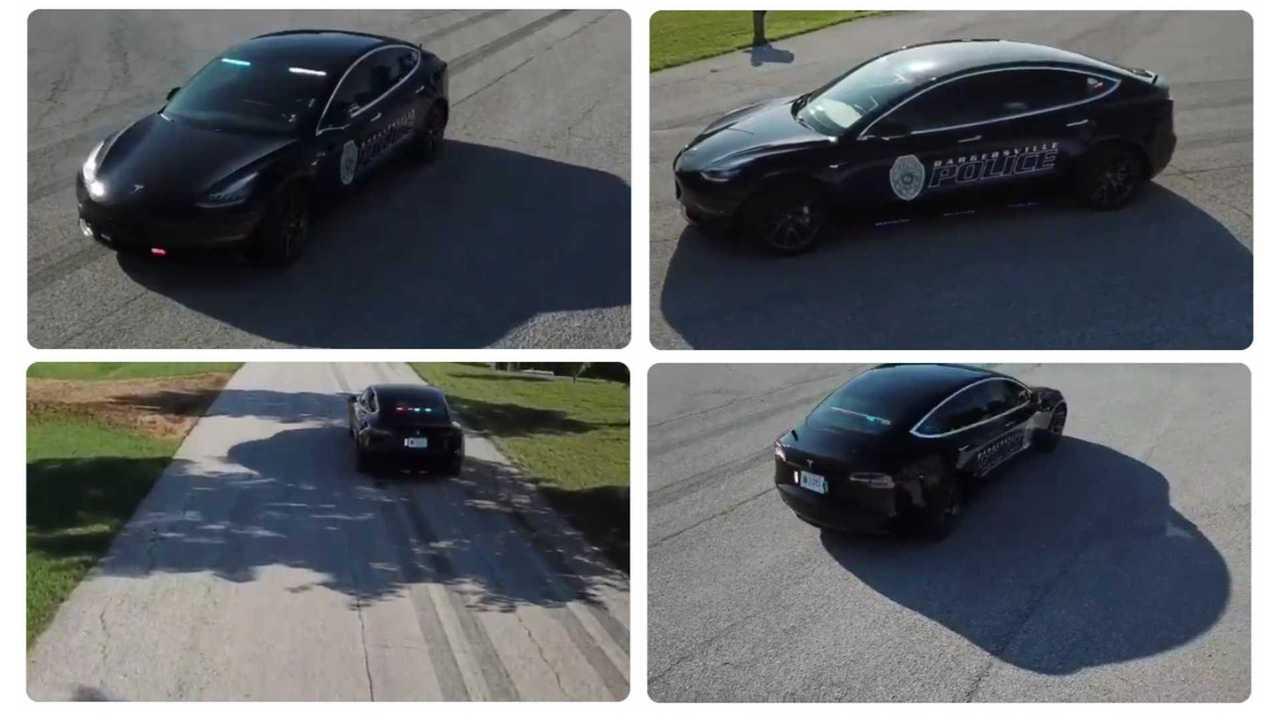 Tesla Model 3 police - Bargersville Police Dept (Source: Todd Bertram)