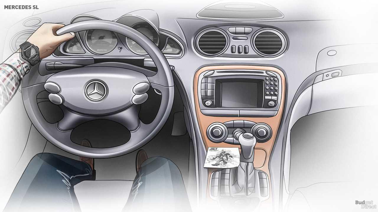 R230 SL interior 2001-2011